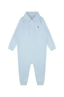 Baby Boys Blue Polo Romper