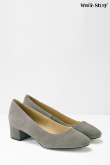 White Stuff Lois Low Court Block Heels