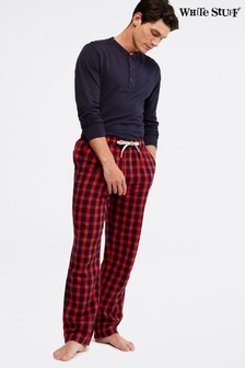 White Stuff Red Thame Brushed Flannel Check Pyjama Bottoms