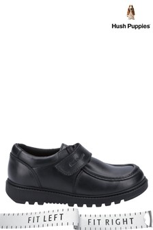 Hush Puppies Black Ryan Junior School Shoes