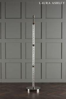 Chrome Louis Twisted Glass Column Floor Lamp Base