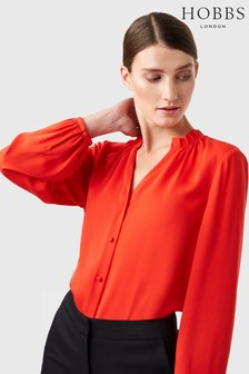 Hobbs Red Gabi Blouse
