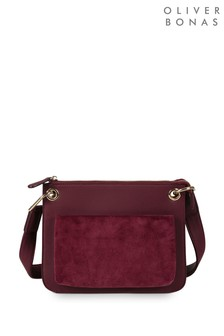 Oliver Bonas Sammie Berry Cord Front Pocket Cross body Bag