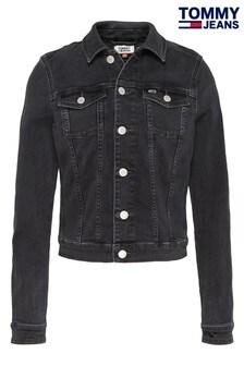Tommy Jeans Black Vivianne Slim Denim Trucker Jacket