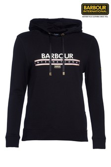 Barbour® International Black Metallic Logo Grounding Hoody