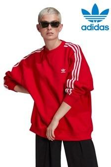 adidas Originals Red Oversized Sweat Top