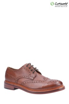 Cotswold Brown Quenington Leather Goodyear Welted Lace-Up Shoes