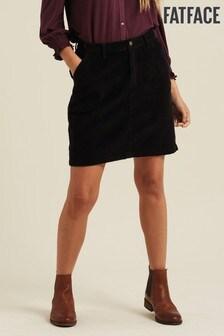 FatFace Black Cara Cord Skirt