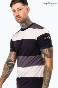 Hype. Mens Mono Stripes T-Shirt