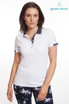 Green Lamb White Paige Jersey Club Polo