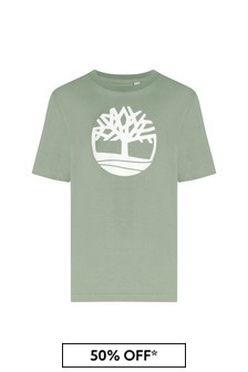Timberland Green Cotton T-Shirt