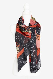 Colour Print Lightweight Scarf