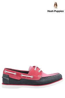 Hush Puppies Pink Hattie Lace-Up Boat Shoes