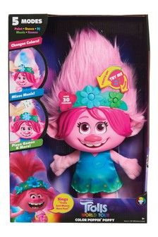 DreamWorks Trolls World Tour Colour Poppin' Poppy Interactive Soft Toy
