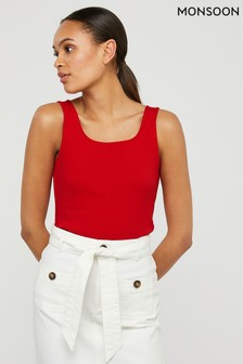 Monsoon Red Bridey Square Neck Vest