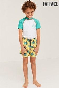 FatFace Yellow Crab Print Boardies