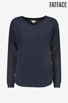 FatFace Blue Emmy Button Jumper