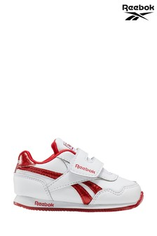 Reebok White/Pink Royal CL Jogger Infant Trainers
