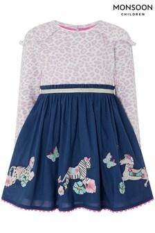 Monsoon Blue Baby Lila Dress
