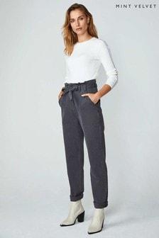Mint Velvet Grey Boston Paperbag Jeans