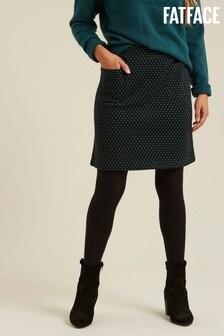 FatFace Black Jennie Jacquard Skirt