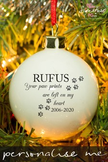 Personalised Pet Memorial Bauble by Signature Gifts