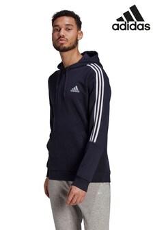 adidas Cut 3 Stripe Zip Pullover Hoodie