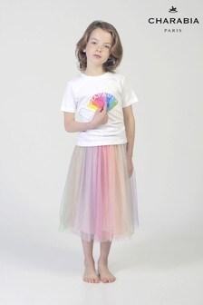 Charabia Pink Rainbow Skirt