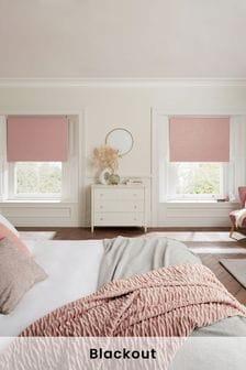Pink Glitter Blackout Roller Blind