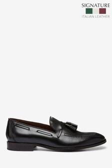 Signature Italian Leather Tassel Loafers