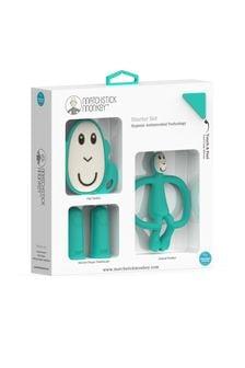Matchstick Monkey Green Teething Starter Set