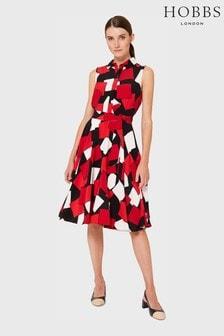 Hobbs Red Belinda Dress