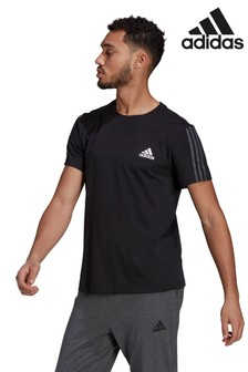 adidas Black 3 Stripe Knit T-Shirt