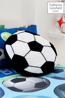 Catherine Lansfield White It's A Goal Cushion
