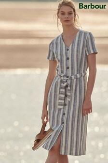 Barbour® Coastal Cotton Stripe Dover Midi Shirt Dress