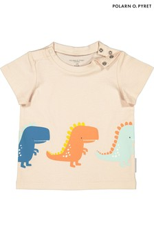 Polarn O. Pyret Natural Organic Dinosaur T-Shirt