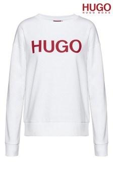 HUGO White Nakira Sweat Top