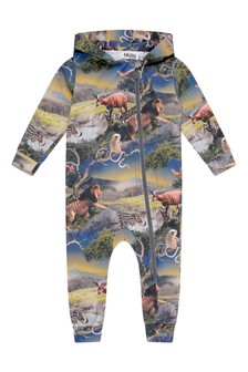 Baby Boys Future Animals Organic Cotton Coverall