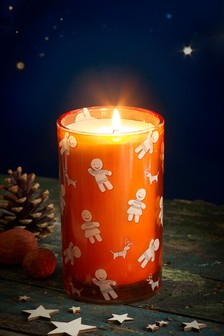 Gingerbread Pillar Candle