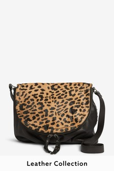 Leather Casual Flap Pocket Cross-Body Bag