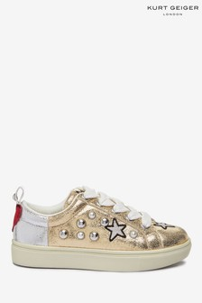 Kurt Geiger London Gold Mini Lippy Sneakers
