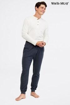 White Stuff Blue Waffle Pyjama Lounge Pants