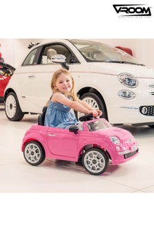 Fiat 500 Push/Ride On Car Pink By Vroom