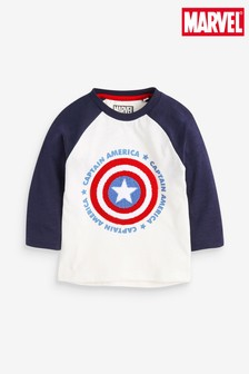 Captain America Long Sleeve Raglan T-Shirt (3mths-8yrs)