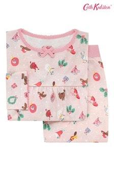 Cath Kidston Pink Jersey Christmas Cheer Pyjamas