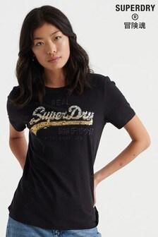 Superdry Vintage Logo Ombre Sequin T-Shirt