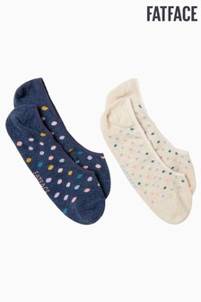 FatFace Blue Spotty Footsies Two Pack