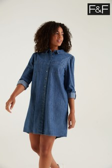 F&F Denim Shirt Dress