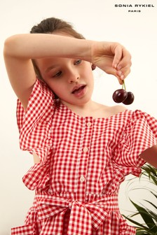 Sonia Rykiel Paris Red Gingham Dress