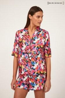 Warehouse Black Livia Pyjama Shirt